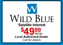Wild Blue Satellite Internet